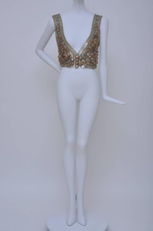"PACO  RABANNE   Early 1960's  ""BRA TOP "" Bodice Piece  7"