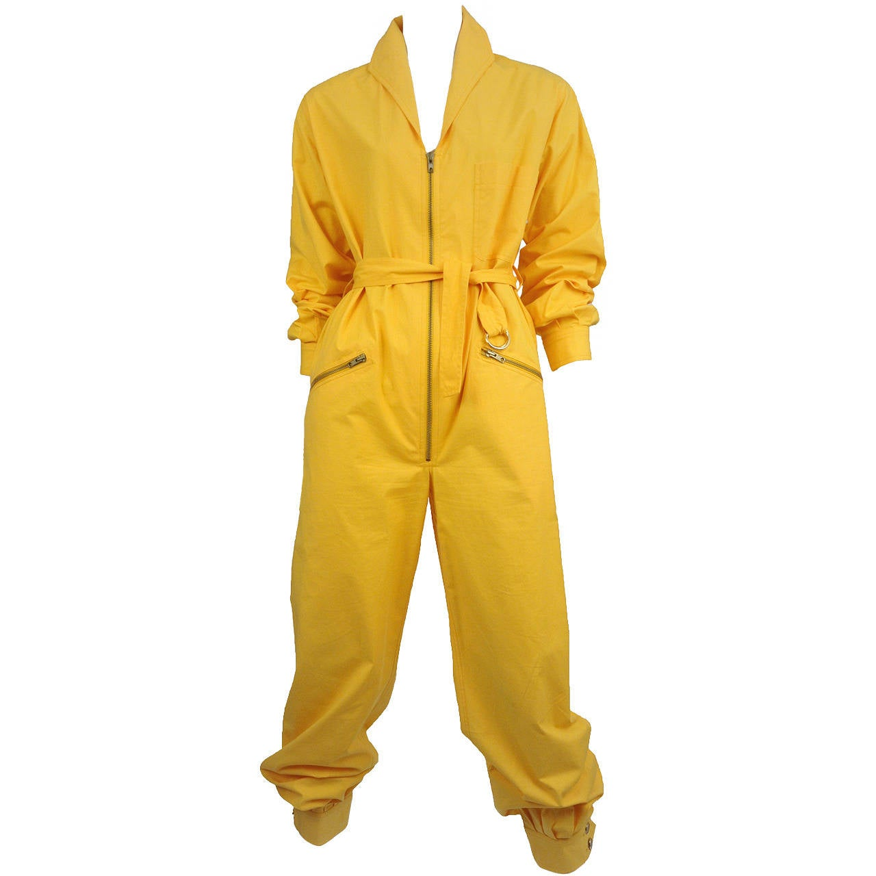 Yves Saint Laurent Yellow Cotton Mechanics Romper 1