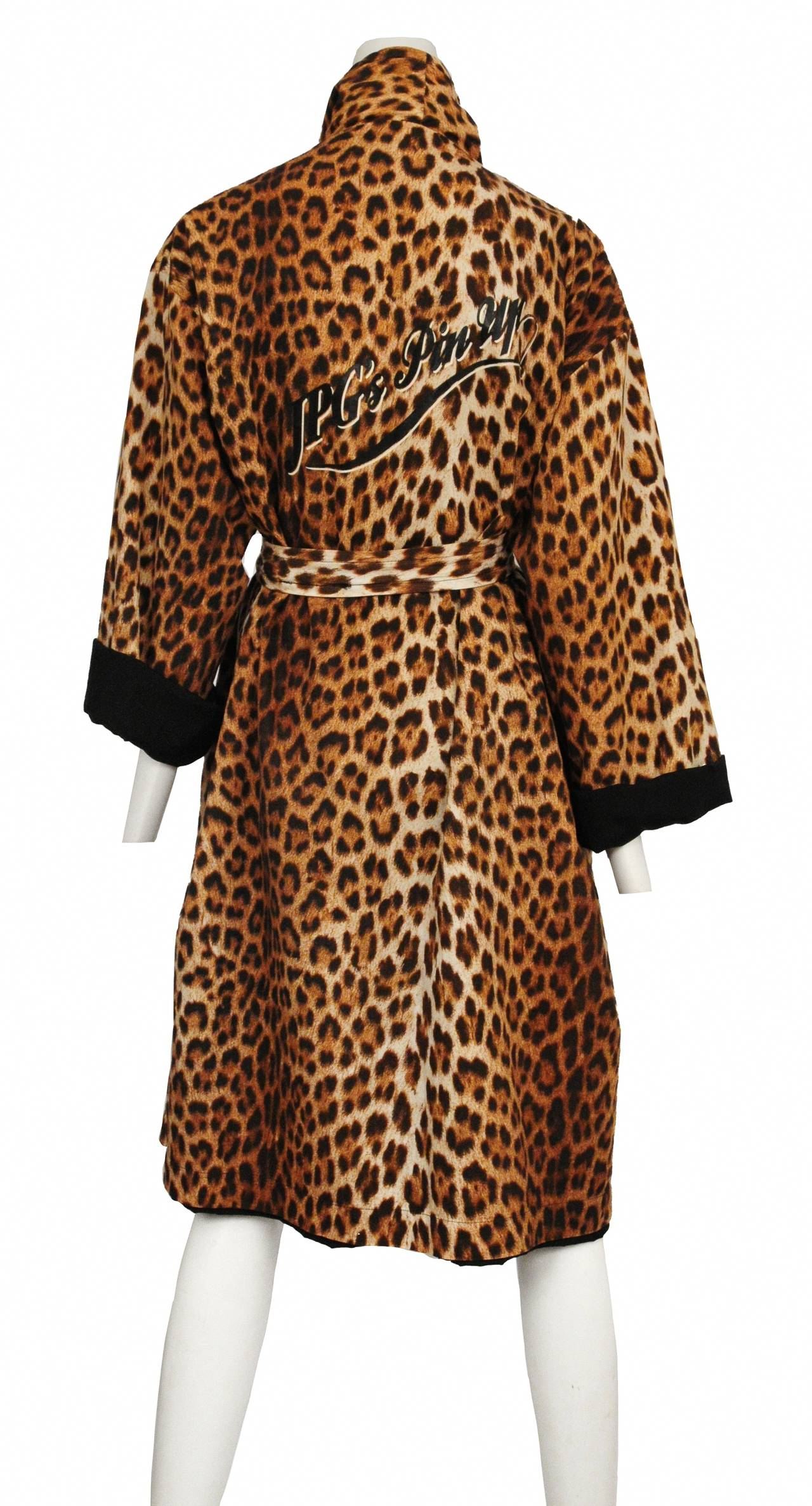 jean paul gaultier silk leopard robe at 1stdibs. Black Bedroom Furniture Sets. Home Design Ideas