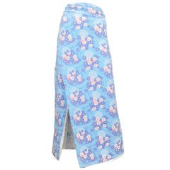 Margiela Blue Floral Wrap Skirt