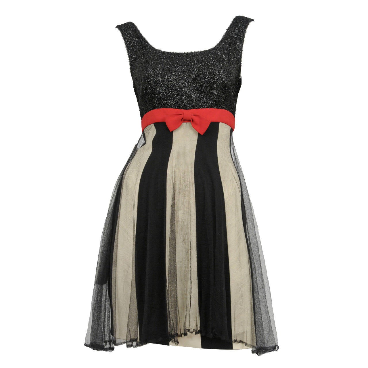 Moschino Stripe Tulle Dress For Sale