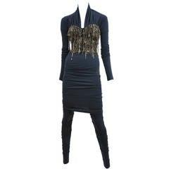 Dolce Gabbana Jeweled Bustier & Leggings