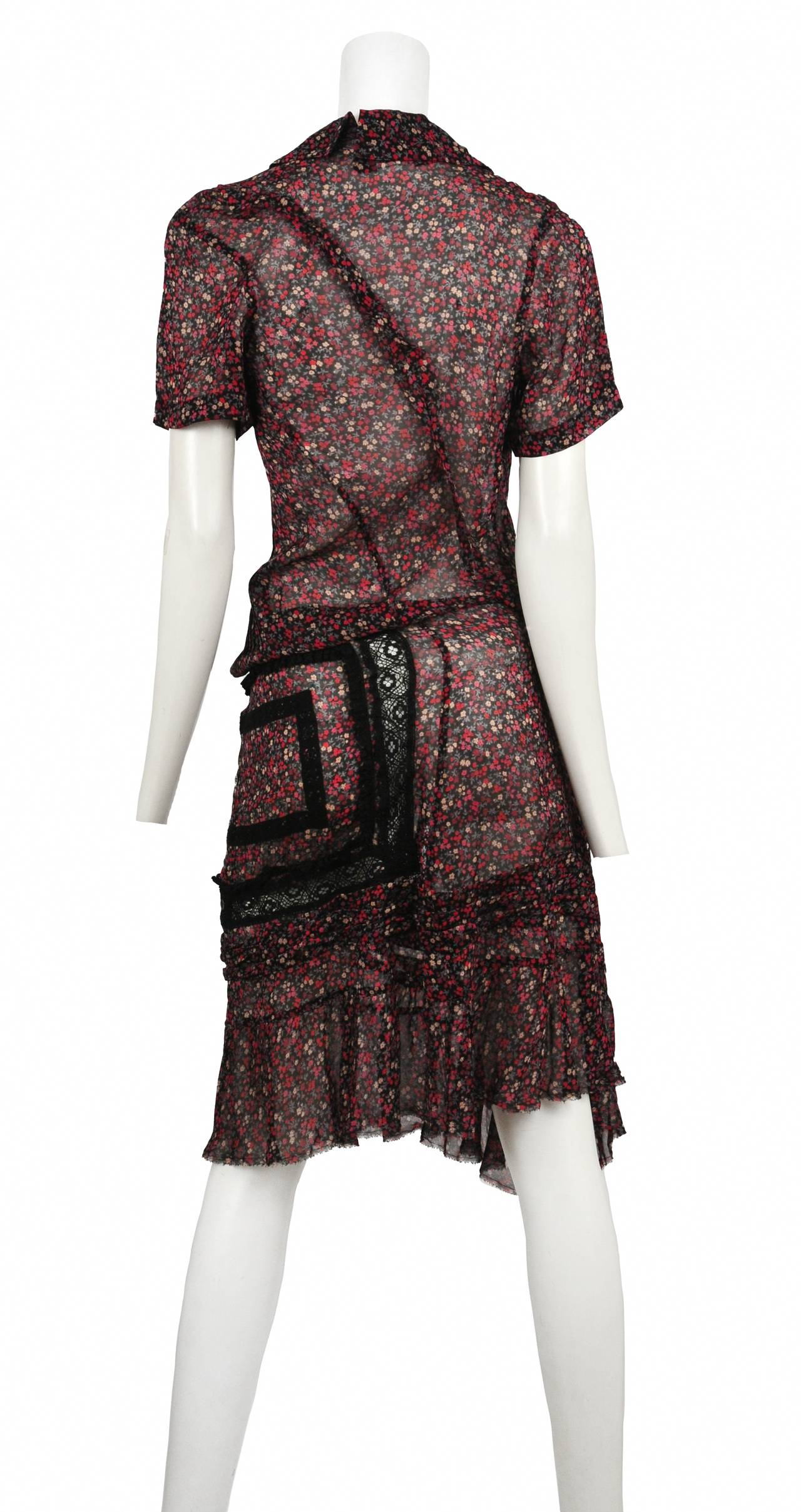 Junya Watanabe Floral And Lace Dress At 1stdibs