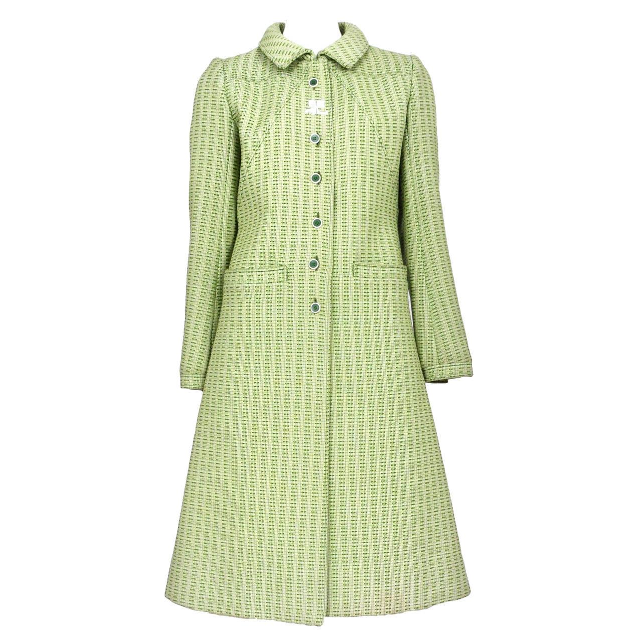 Courreges Green Wool Coat 1