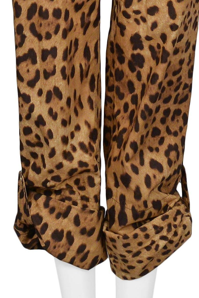 Women's Super Chic Dolce & Gabbana Cotton Leopard Safari Style Belted Jumpsuit For Sale