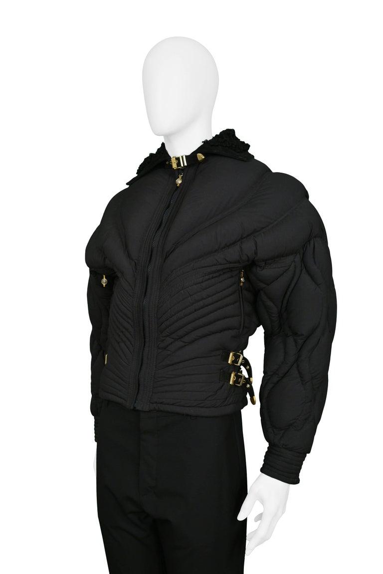 Vintage Gianni Versace Black Apres Ski Quilted Puffer