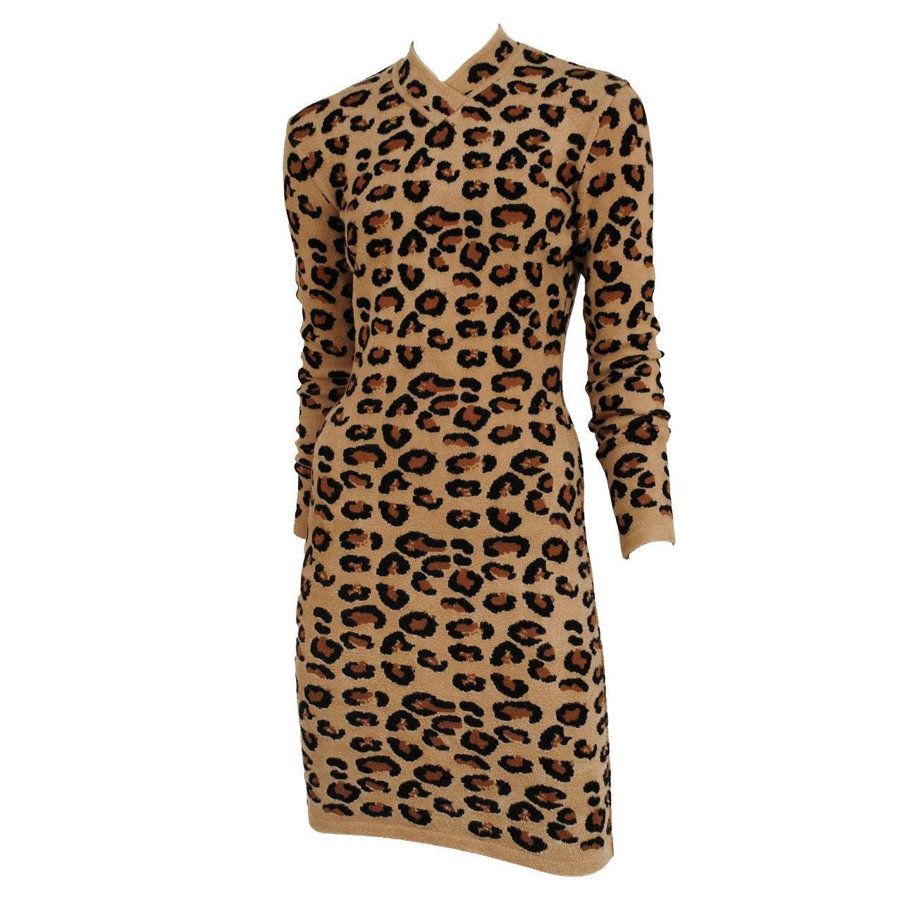 Azzedine Alaïa leopard mini-dress, 1990s