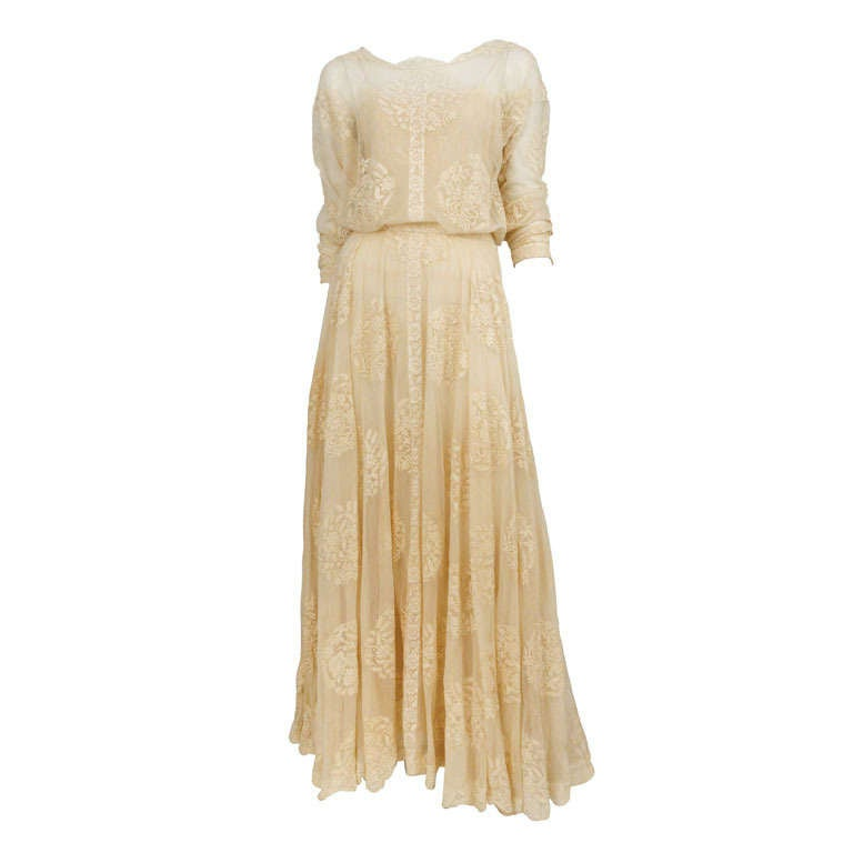Chanel Lace Gown 1