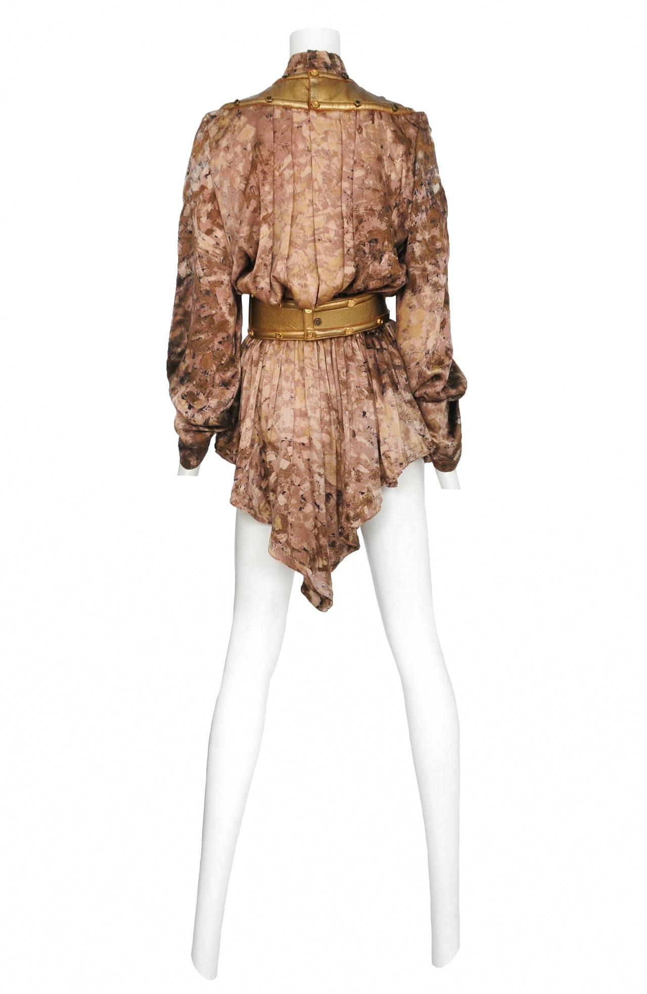 Thierry Mugler Rare Gold Tunic & Leather Belt 2