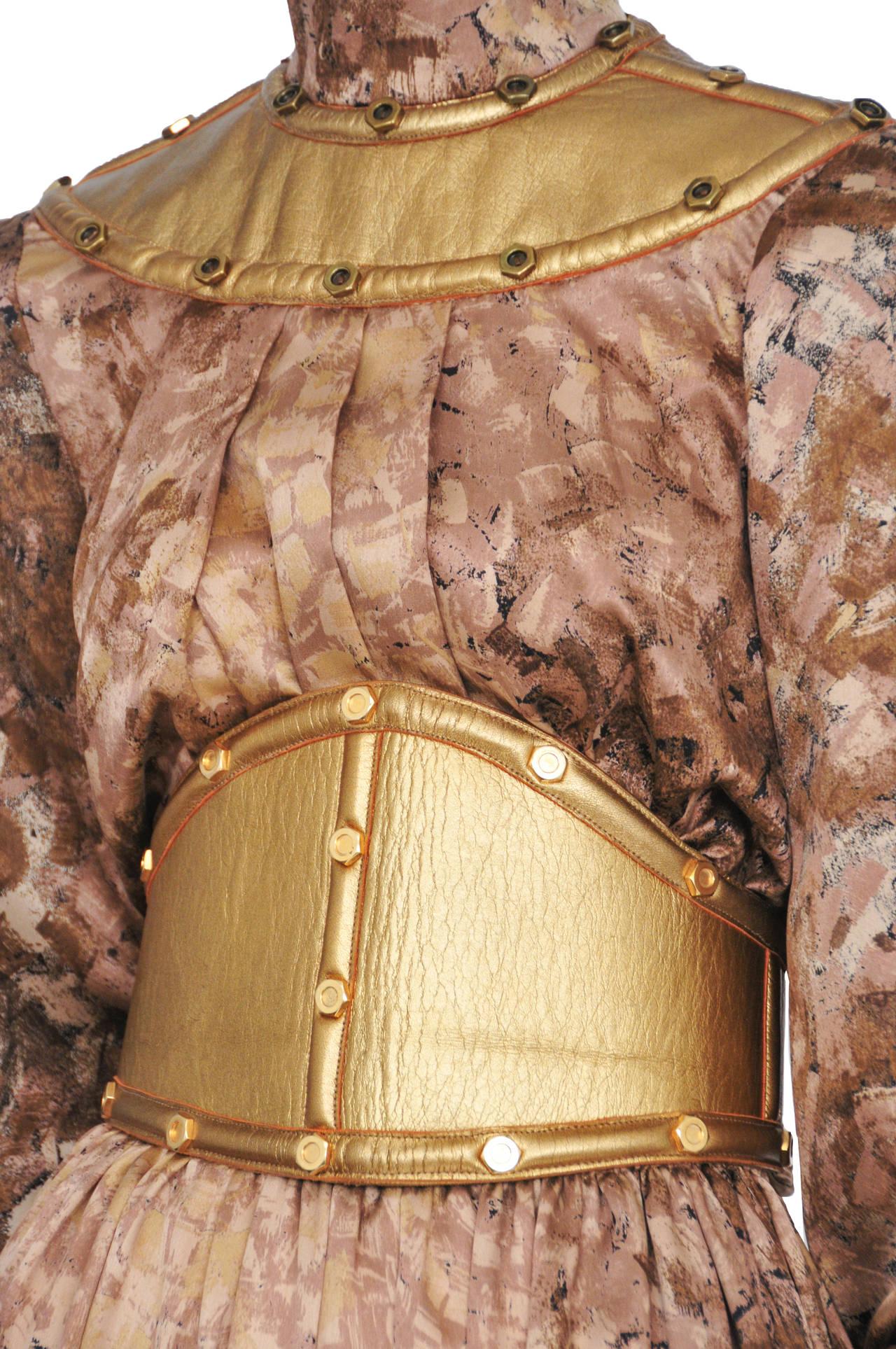 Thierry Mugler Rare Gold Tunic & Leather Belt 3