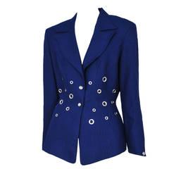 Thierry Mugler Cobalt Blue Blazer