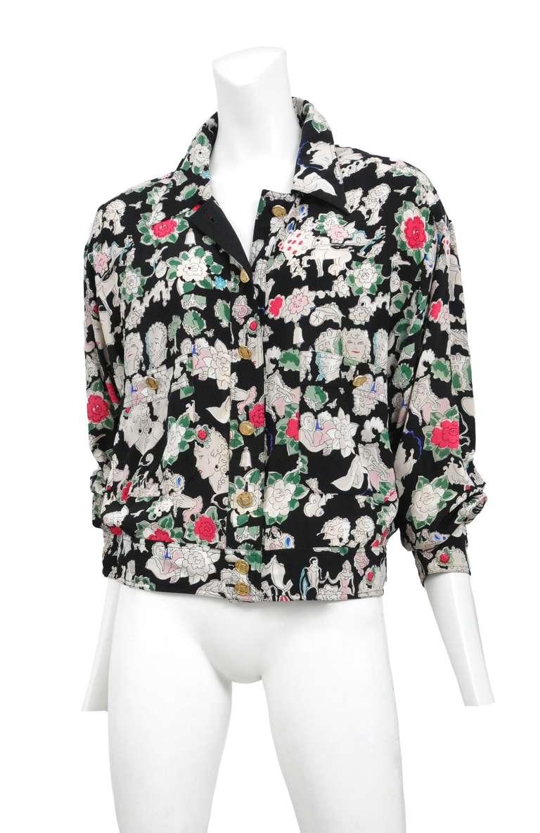 Chanel Silk Floral Jacket 2