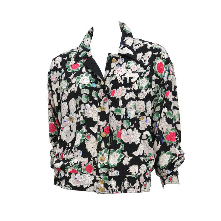 Chanel Silk Floral Jacket 1