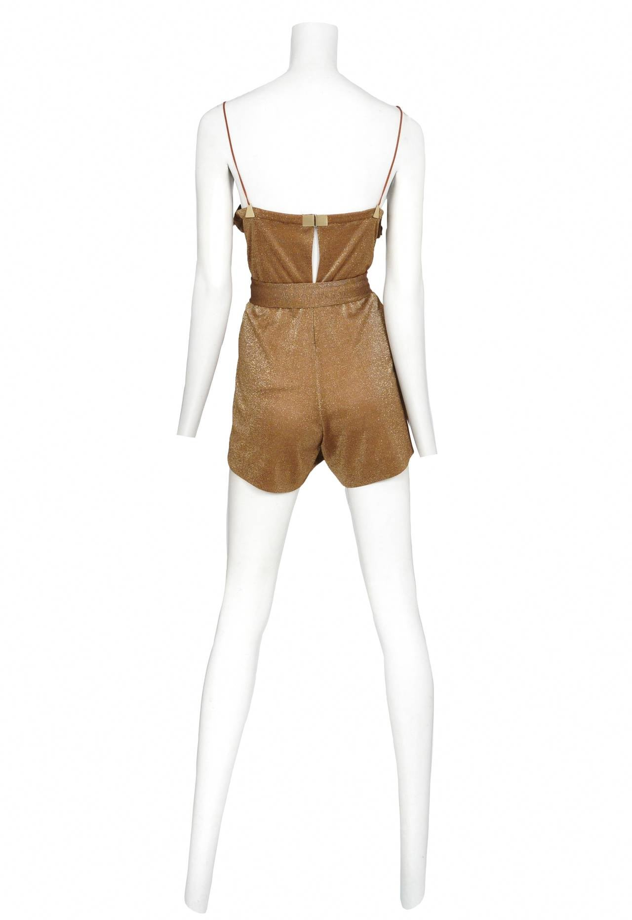 Jacques Cassia Lurex Copper Jumpsuit 2