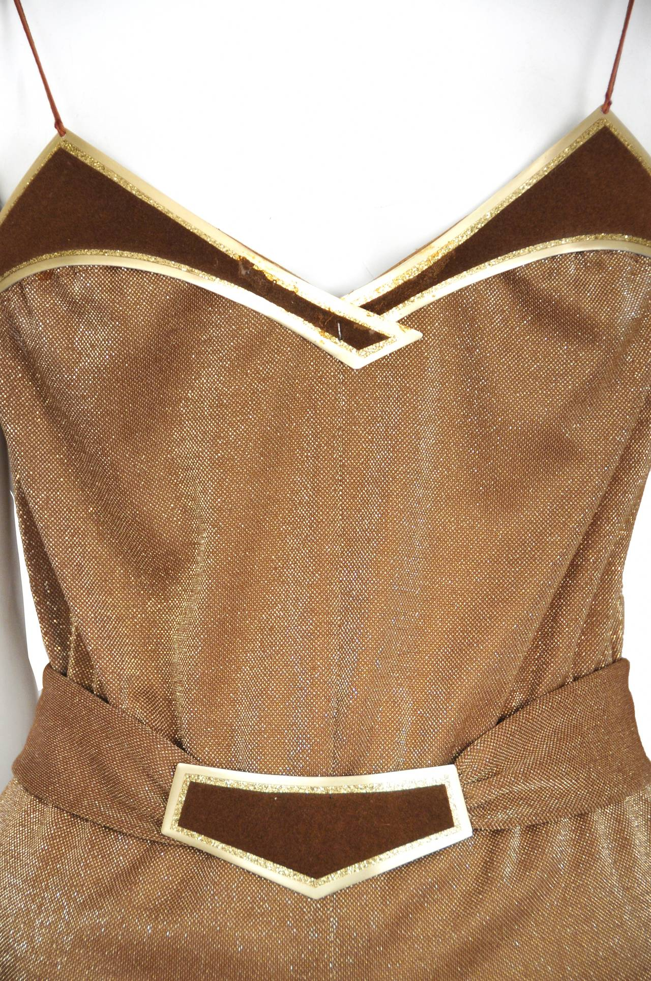 Jacques Cassia Lurex Copper Jumpsuit 3