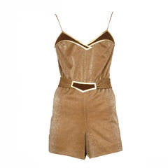 Jacques Cassia Lurex Copper Jumpsuit