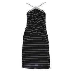 Jacques Cassia Black & Lurex Stripe Dress