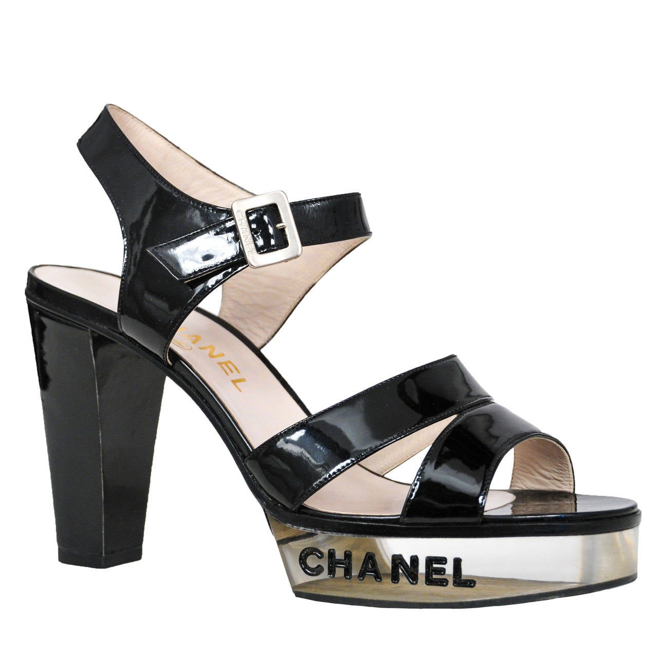 Chanel Lucite Platforms