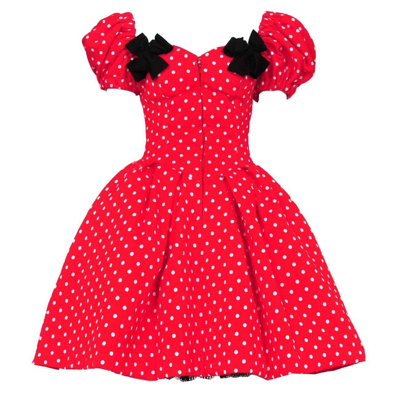 Christian Lacroix Polka Dot Cocktail Dress 1