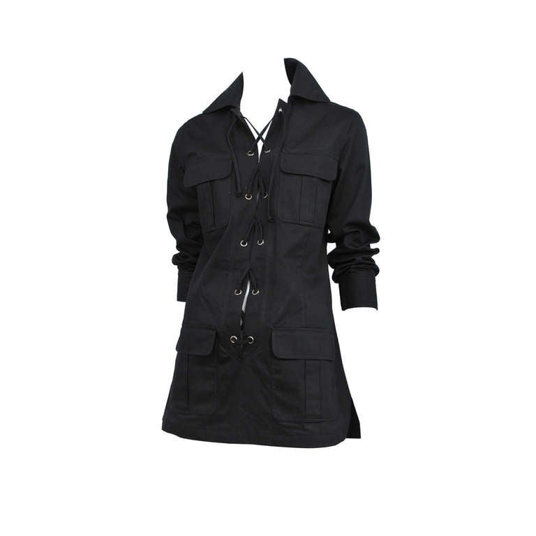 Yves Saint Laurent Black Safari Tunic 1