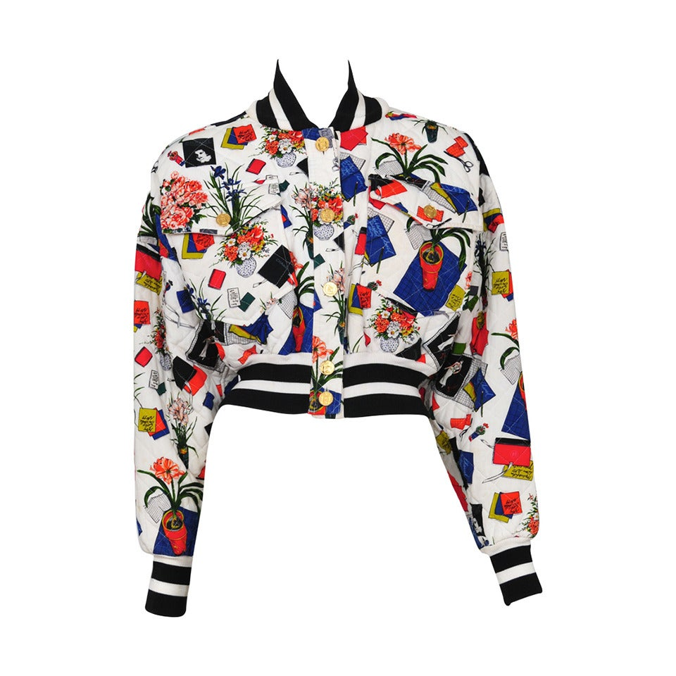 Chanel Floral Quilted Bomber 1