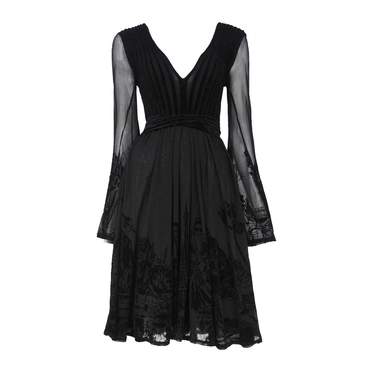 Gaultier Burnout Dress 1
