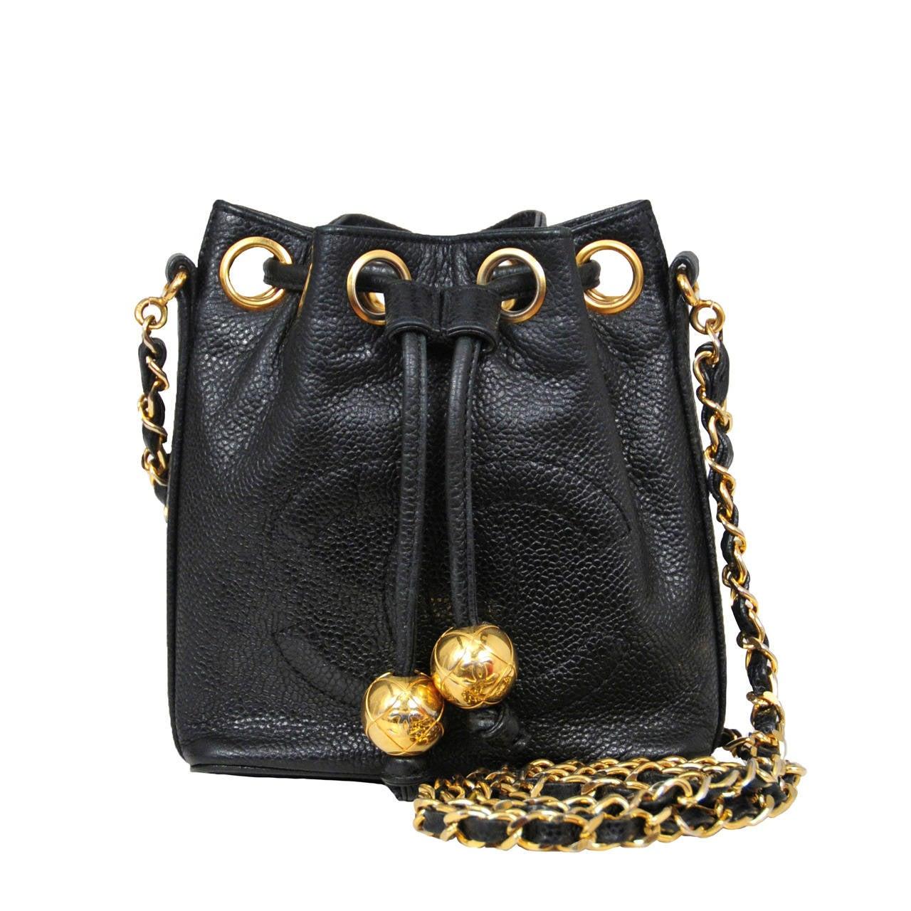 Chanel Mini Caviar Bucket Bag For