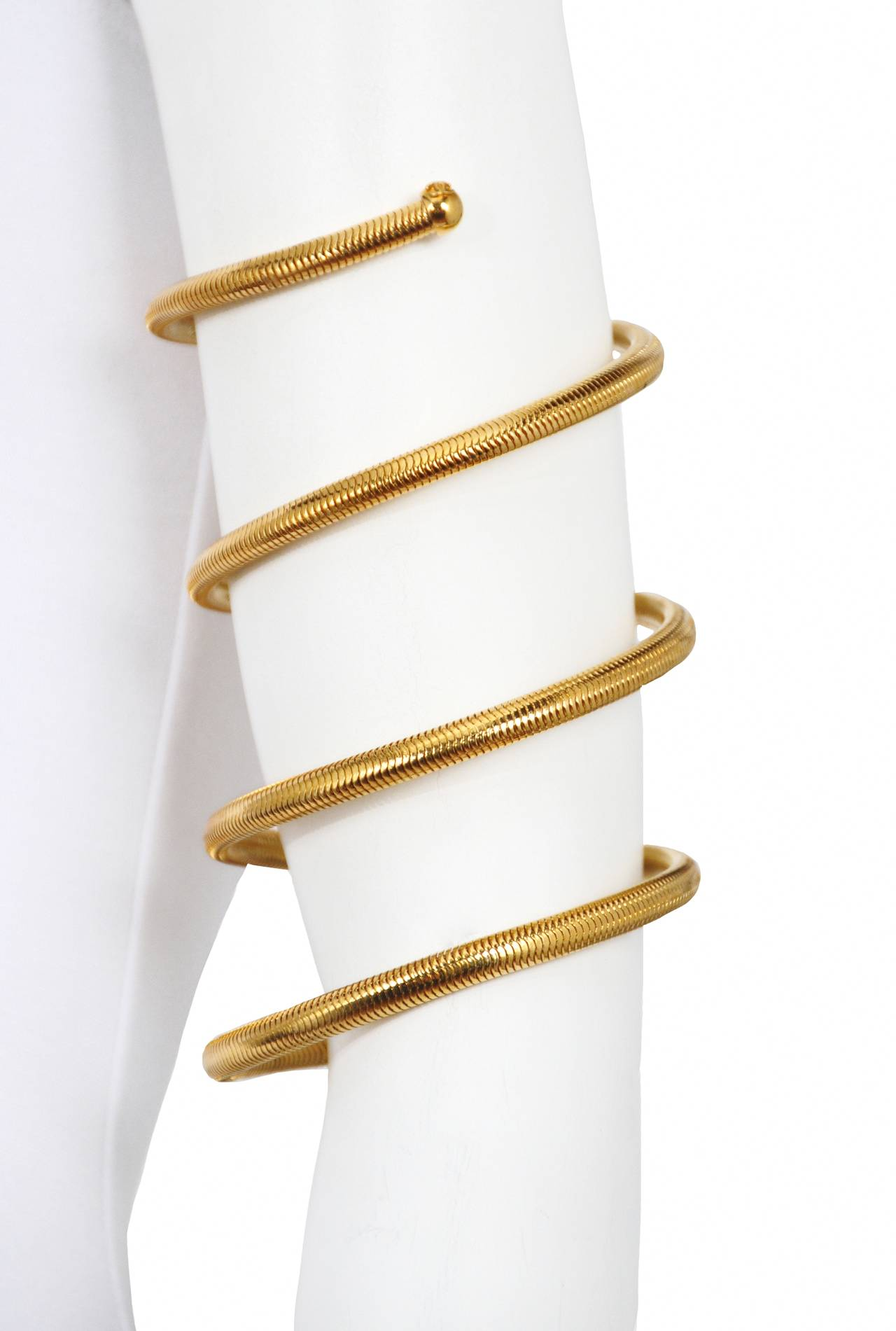 Chanel Gold Tone Coil Bracelet 3