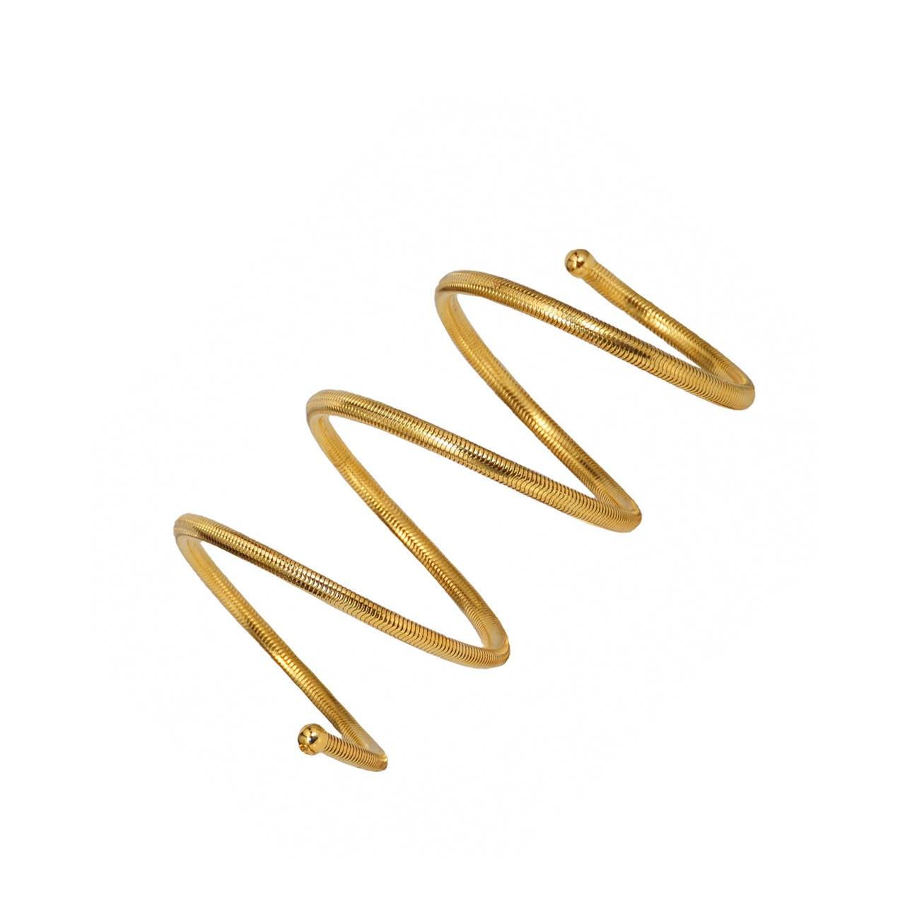 Chanel Gold Tone Coil Bracelet 1