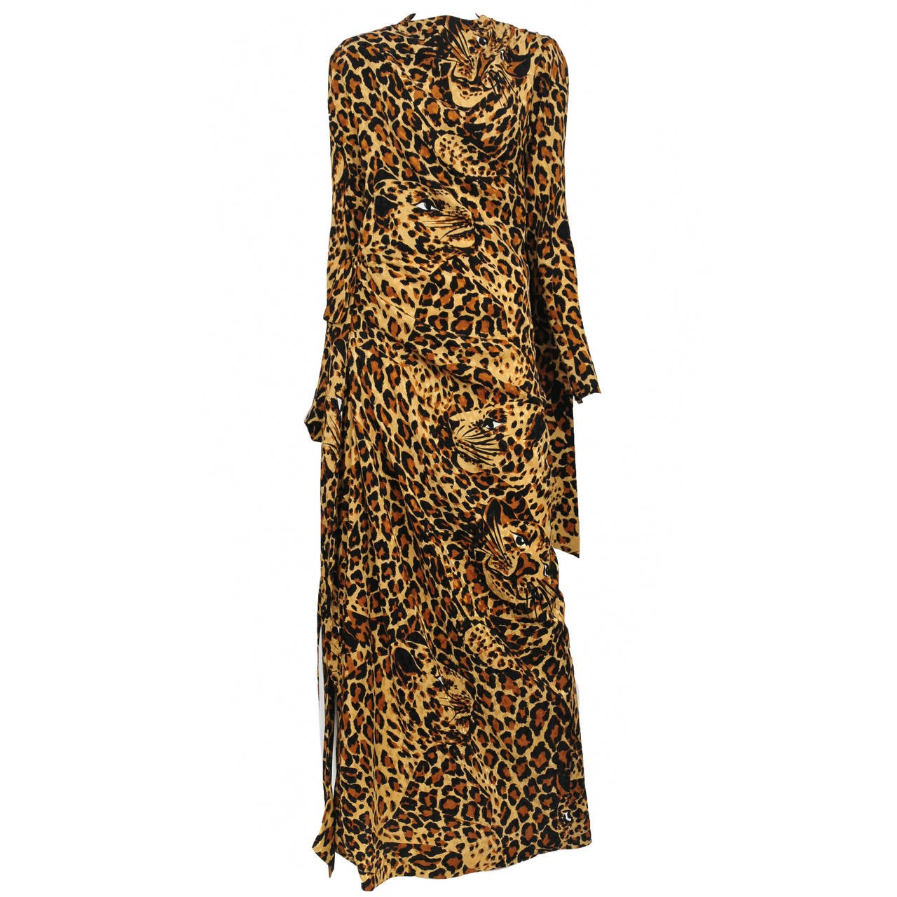 Yves Saint Laurent Iconic Leopard Print Gown at 1stdibs