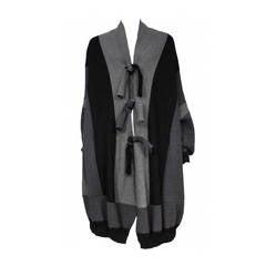 Alaia Grey Cocoon Sweater