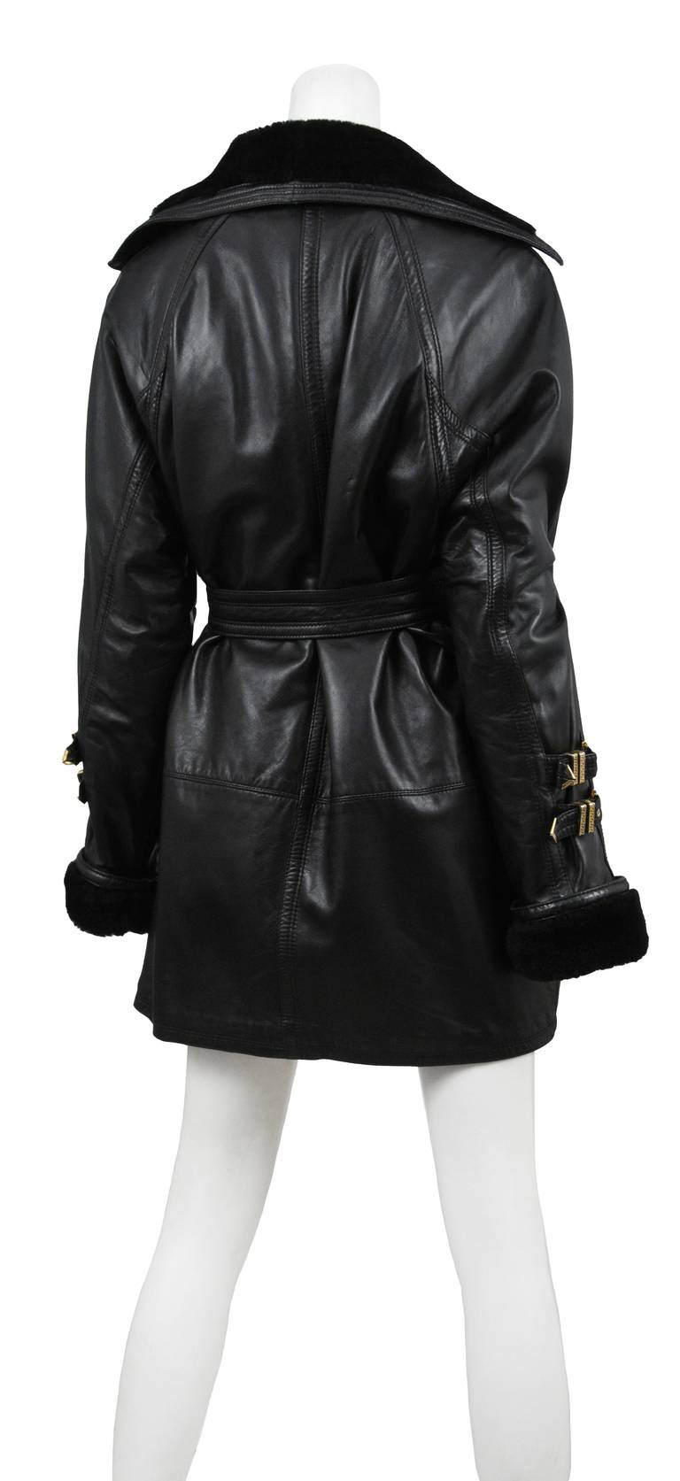 Versace Leather Over Coat 3