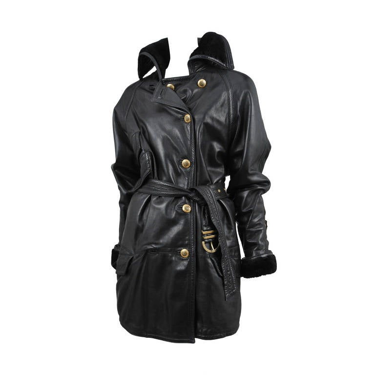 Versace Leather Over Coat 1