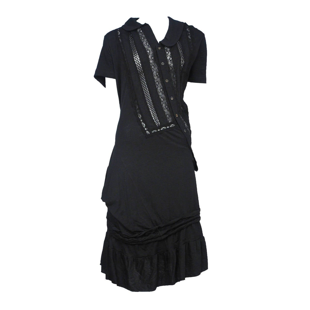Junya Watanabe Lace Twist Dress For Sale At 1stdibs