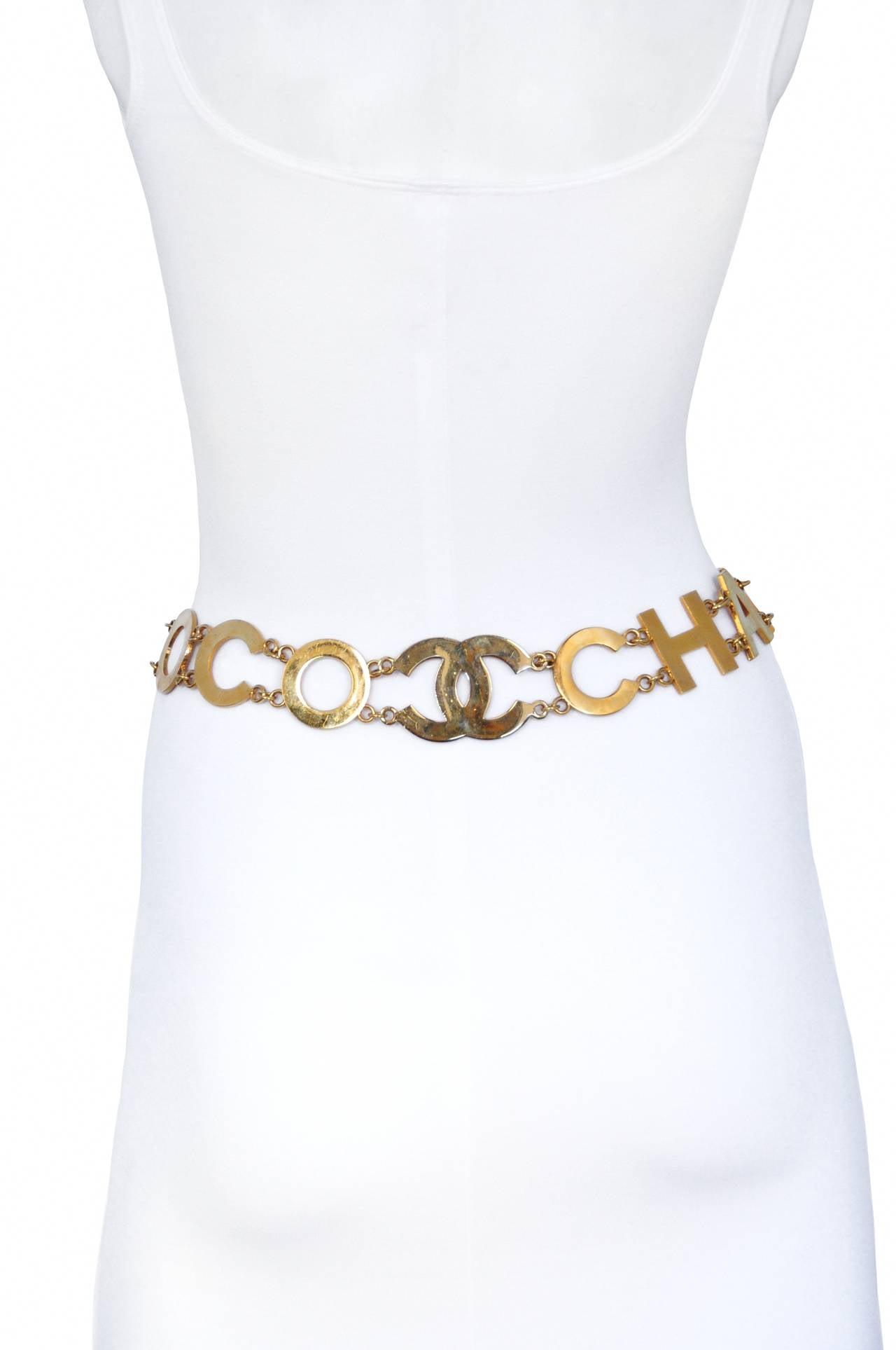 Chanel Coco Logo Belt 2