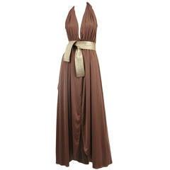 Bill Tice Jersey Halter Gown