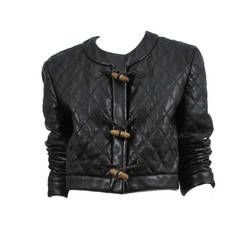 Rare Thimble Quilted Leather Jacket