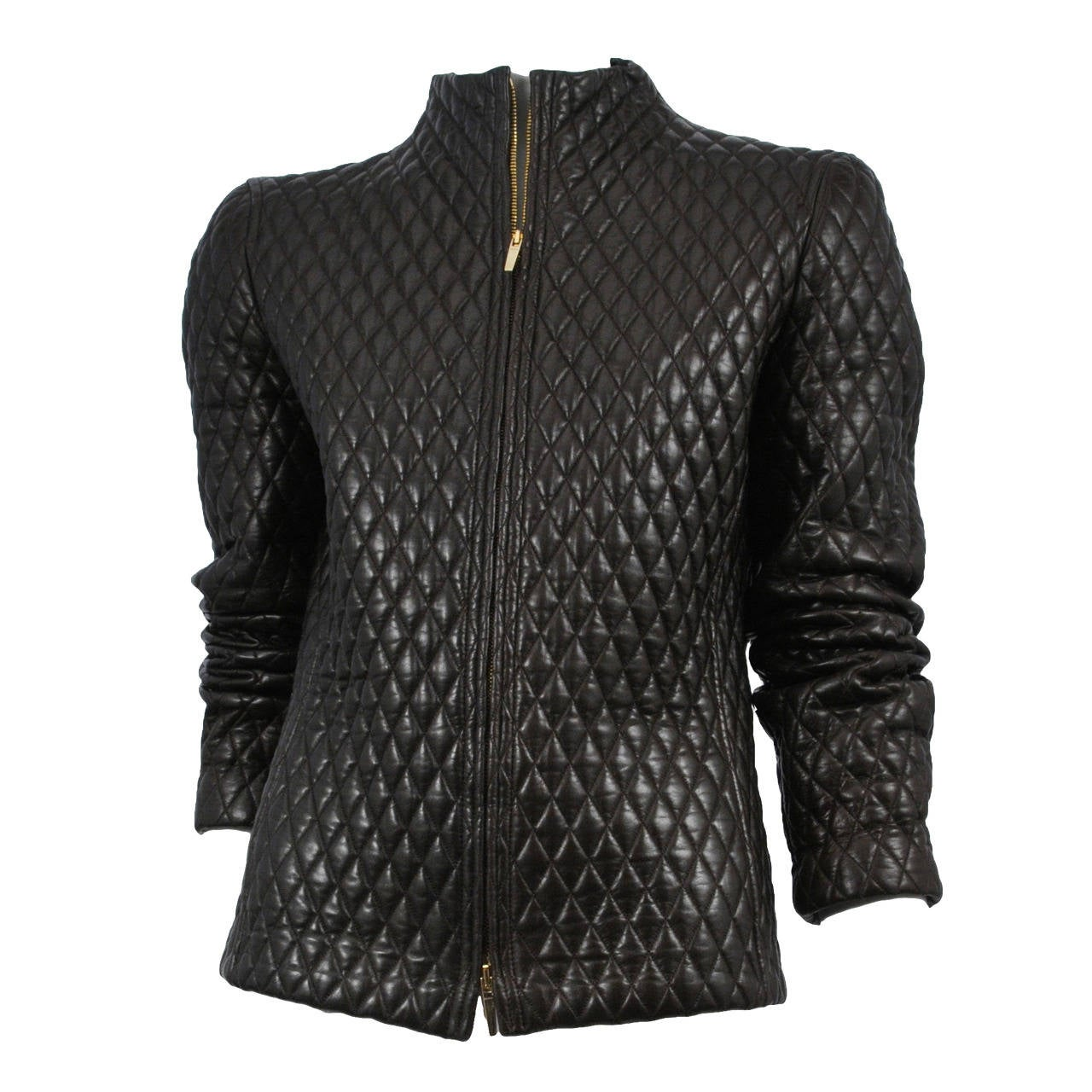Tom Ford for Gucci Leather Quilted Jacket 1