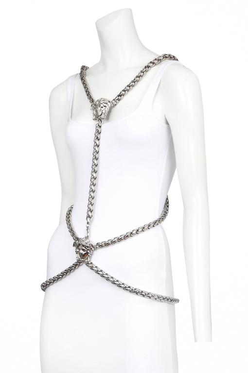 Versace Medusa Body Chain Harness  In Excellent Condition For Sale In Los Angeles, CA