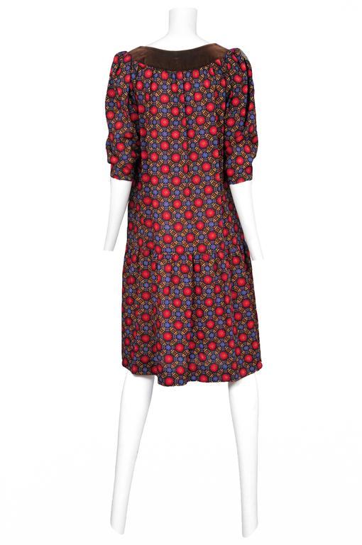 Yves Saint Laurent Geo Print Dress  2