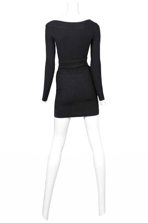 Alaia Black Bodysuit and Skirt  2