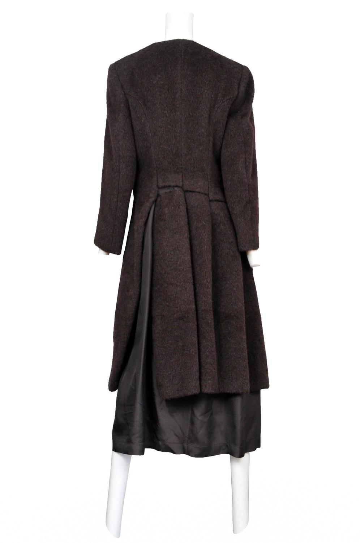 Comme Des Garcons Brown Alpaca Coat For Sale At 1stdibs