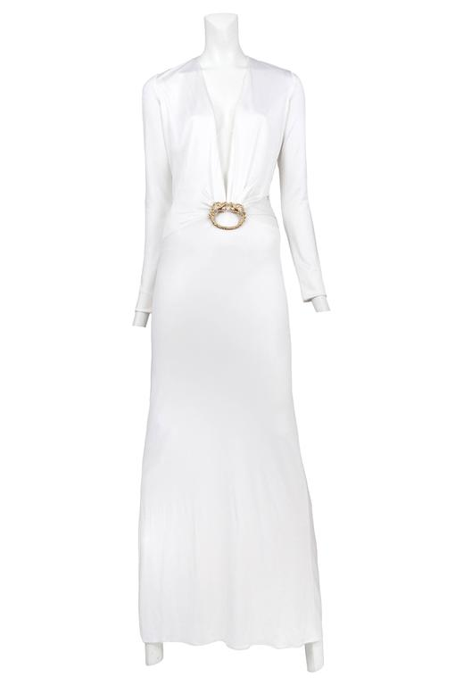 Gucci White Cut Out Gown at 1stdibs
