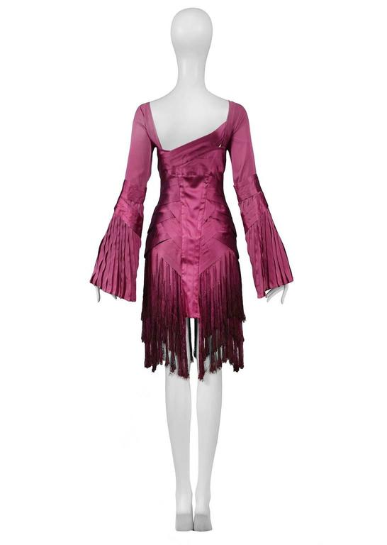 Gucci Fuchsia Tassel Dress In Excellent Condition For Sale In Los Angeles, CA