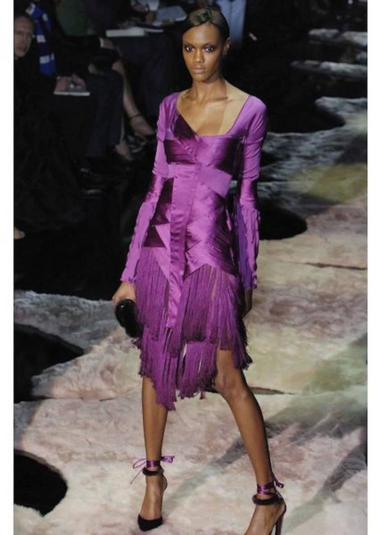 Women's Gucci Fuchsia Tassel Dress For Sale