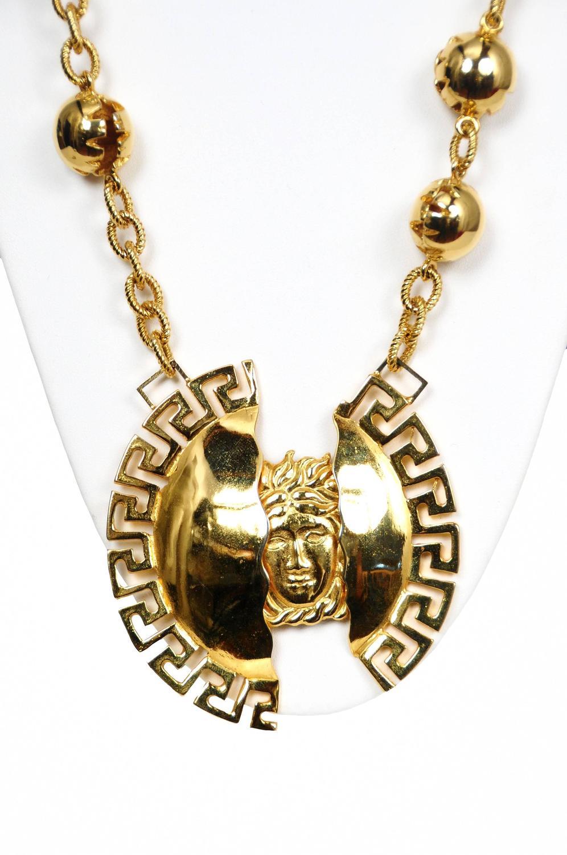 versace split medallion necklace at 1stdibs