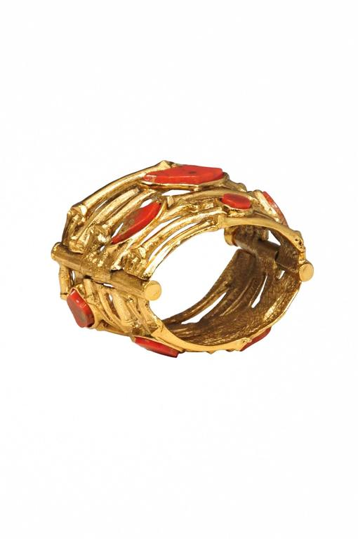 Yves Saint Laurent Rive Gauche Bamboo Bangle For Sale At