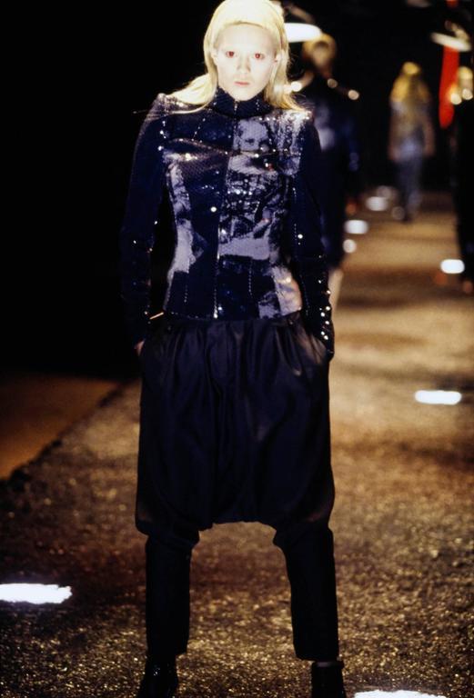 Gray McQueen Romanov Print Sequin Top 1998 AW  For Sale
