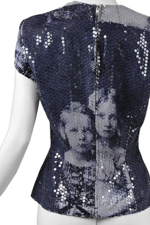 McQueen Romanov Print Sequin Top 1998 AW  For Sale 2