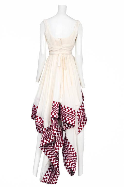 Gray McQueen Check Samurai Dress  For Sale